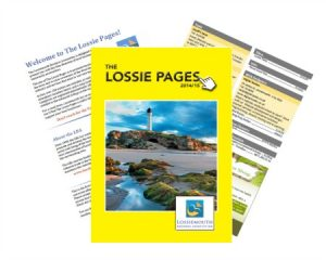 Business brochure for organisations in lossiemouth produced by alison readd digital content