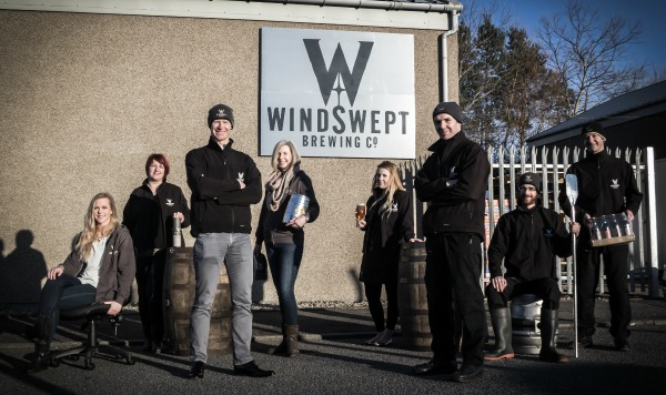 Corporate team portrait shot of lossiemouth brewery