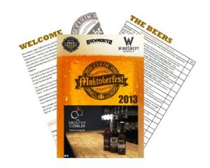 desktop publishing example of a beer festival programme created by alison read