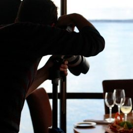 photographer taking pics of food