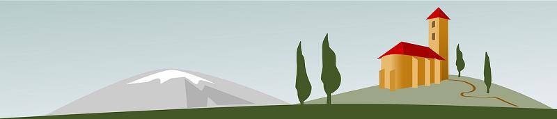 vector image of italian hillside