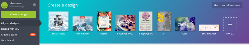 Image of Canva header