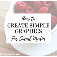 How to create simple graphics for social media