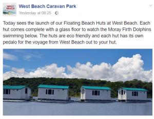 April fools hoax beach hut