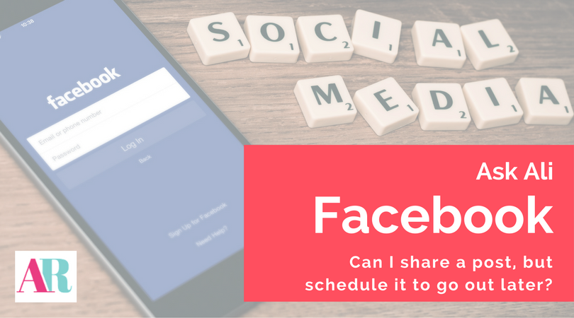 facebook how to schedule a shared post